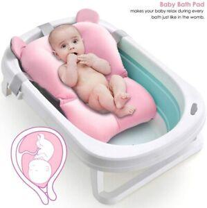 NewBorn Safety Security Bath Seat Support Baby Bath Pad Non-Slip Bathtub Mat UK