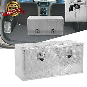 "*New* 36"" Aluminum Truck Bed Underbody Tool Box Trailer RV Tool Storage w/Lock Q"