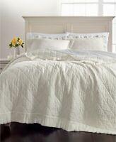 Martha Stewart Full/Queen Quilt Ruffle Linen Cotton E92326