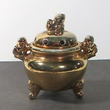 "Foo Dog china incense burner or potpourri/spice scent pot Japan 3""x3"" ᵛ"