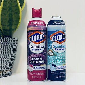 CLOROX-Scentiva Disinfecting Bathroom Foam Cleaner Kills 99.9%,20 oz Cans *Read