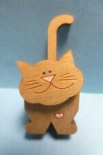 miniature dollhouse handmade 3d die cut wood cat kitten figurine smidgens 1:12