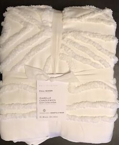 Pottery Barn Snow White Isabelle Candlewick Duvet, Full.Queen,New W/$199.00tag