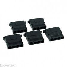 5 x 4-Pin Molex Black Plug Computer Power Supply PSU Female Connectors Housing