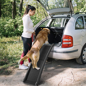 Foldable Pet Ramp with Non-Slip Surface Plastic
