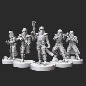 Star Wars Legion - Clone Snow Trooper Squad (5) 3D Resin Printed Unit