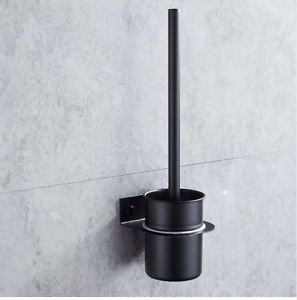 Luxury gold plated 304 stainless steel bathroom toilet brush holder wall hanging