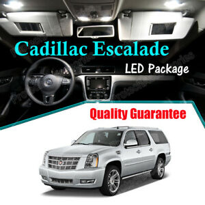 White LED Lights Interior Package for 2007 - 2013 2014 Cadillac Escalade CANBUS