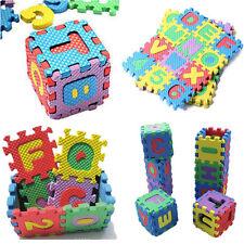 Baby Kid Alphabet & Numerals Soft Foam Crawl Play Floor Mats Tiles Jigsaw Puzzle