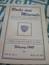 Rocks and Minerals Official Journal of the Rma ~ February 1948