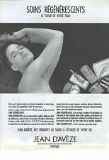PUBLICITE ADVERTISING 1986  JEAN D'AVEZE cosmétiques cremes soins régénérescents