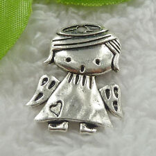 Free Ship 44 pieces tibet silver angel charms 29x22mm #1181