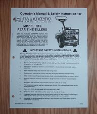 SNAPPER  RT5 TILLER  OWNERS  MANUAL PUBLICATION 14757