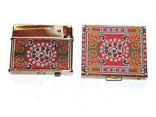 "Vintage Matching Set Arrow Lighter & Compact Super De Lux ""New Light"" Pair"
