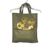 Marc Jacobs Daisy Daisy Perfume Tote Bag Hand Bag Burlap Cloth Floral Gold