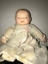 "Doll 13"" Bye - Lo Baby Composition Tagged Dress 1930s"