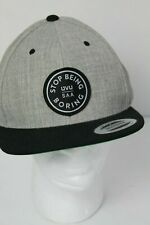 Stop Being Boring UVU SAA Gray Black Hat Yupoong Snapback NEW