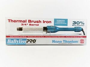 BaBylissPRO - NANO TITANIUM Thermal Brush Iron 3/4 Barrel