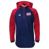 adidas Chicago Fire MLS 2016 Soccer Climalite Lightweight Hooded Shirt Navy Blue