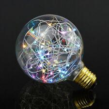 Flash Starry Sky Vintage Retro Globe Bulb 2W LED Light Feast RGB Color E27 Screw