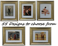 Jack Vettriano Framed Art Prints 33cm x 28cm 55 designs to choose GOLD frame