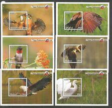 MALAWI 2018 INDIGENOUS BIRDS 6 MINISHEETS U/MM NH LOT L603