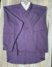 Big Mens Port Authority Long Sleeve Easy Care Shirt - S608 size 5X EggPlant