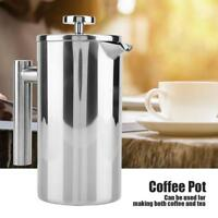 Double Wall Insulated 304 Stainless Steel French Press Coffee Maker with Filter