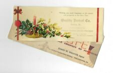 Vintage Celluloid Blotter Quality Pretzel Co Reading Pa Butter Pretzel Christmas