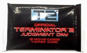 TERMINATOR 2 Official Movie Trading Card Pack 12 Movie Cards +Offer card 1991 T2