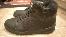 Vintage CONVERSE CONS HI-Top Basketball Shoes Black Leather  Men's: 9