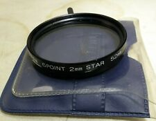 Tiffen 52mm 6 Point 2m Star Cross Screen CS Lens Filter made in Japan