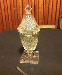 Porta caramelle in cristallo vintage prima metà del XX° secolo - peso gr. 1122.