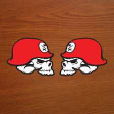 "Metal Mulisha Skull & Helmet 5.5"" x 4.5"" inch Vinyl Decal Sticker Set of 2"
