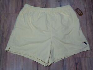 Caribbean Roundtree & Yorke Size Medium Yellow New Men's Swim Trunks Shorts