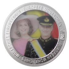 SOUVENIR MEDAL EUROPEAN MONARCHIES Queen Mathilde and King Philippe BELGIUM
