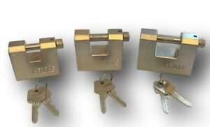 High Security Container Sliding Shackle KFORCE Block Padlock 3 SIZES *FREE P&P*