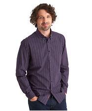 Men's Striped Regular Collar Casual Shirts & Tops