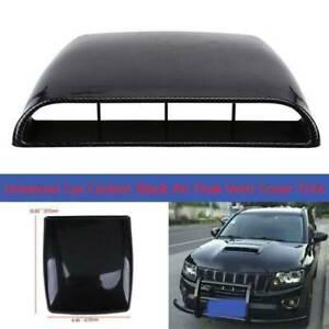 Car Decorate Air Flow Intake Hood Scoop Bonnet Vent Sticker Cover Carbon Fiber