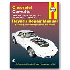 Haynes Repair Manual for 1968-1982 Chevrolet Corvette - Shop Service Garage rk