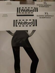 2 pairs of Wolford Synergy 20 Push-Up tights pairs, XL black slight 2nd