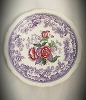 """Set of 2 Spode Copeland Mayflower China 9"""" Luncheon Plates, Made in England"""
