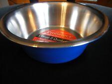 ProSelect Dog Dish Stainless Steel Classic Dog Pet Dining Bowl, 2-Quart BLUE
