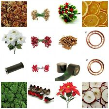 Wreath Florist Decoration Oranges Apples Cinnamon Pine Cones Floral Glue Xmas