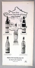Chanson French Wine PRINT AD - 1967