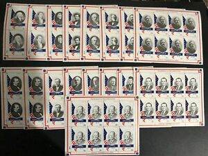 Staffa scotland the presidents of united states 17 souvenir sheets mnh
