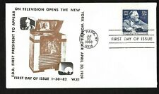 #1950 20c Franklin D. Roosevelt - 1st appearance on TV Cachet - W.F.1  FDC