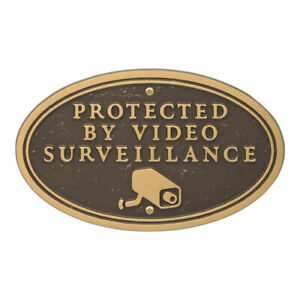 Whitehall Products, LLC Surveillance Camera Oval Wall/Lawn Statement Plaque -...