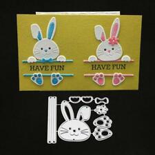 Bow Rabbit Metal Cutting Dies Stencil Scrapbooking DIY Album Stamp Paper Emboss