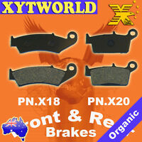 Front Rear Brake Pads Honda XR250 XR 250 R 1990-1995